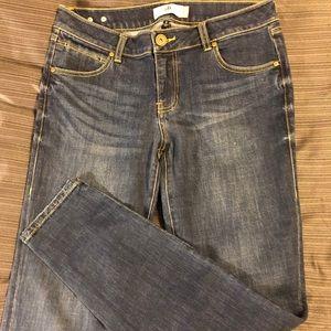 Cabi Dark Wash Straight Leg Jean